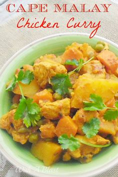 Cape Malay Chicken Curry ~ Easy recipe for this traditional, spicy Cape Malay, South-African curry dish and the curry is an all season recipe #CapeMalay #ChickenCurry