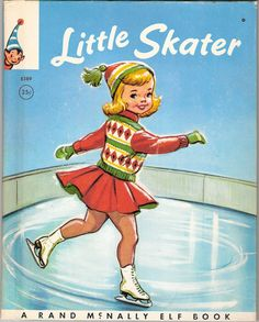 Little Skater - Illustrated by Dorothy Grider Vintage 1959.
