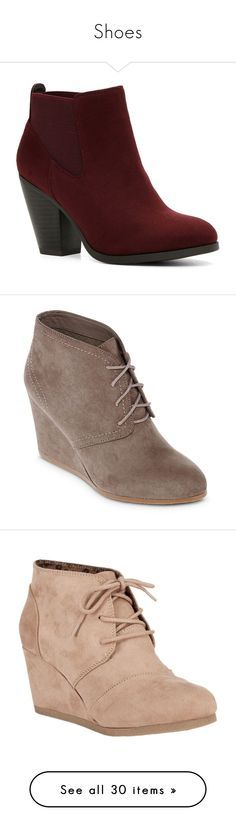 """Shoes"" by tempermental-teen ❤ liked on Polyvore featuring shoes, boots, ankle booties, ankle boots, call it spring boots, high heel booties, call it spring, bootie boots, short boots and wedge ankle booties"