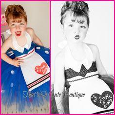 That's Cute so Boutique | Lucille Ball Costume, I Love Lucy Tutu Dress, Retro Tutu Dress, Red ...