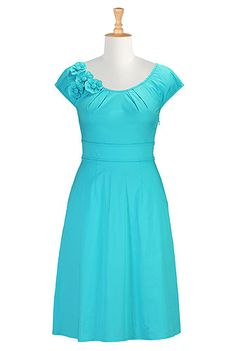 I <3 this Felicity dress from eShakti 79.95 choices of length, flowers are optional