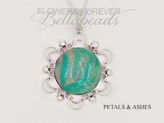 Flower Petal Jewelry Memorial Jewelry Pet Ashes Cremation