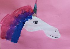Preschool Crafts for Kids*: Footprint Unicorn Horse Craft