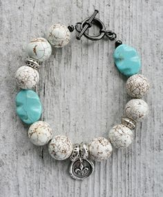 Stacker Bracelet - Turquoise Sterling Silver