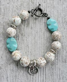 Stacker Bracelet - Turquoise Sterling Silver