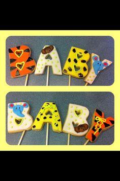 Safari Baby Shower Cookies