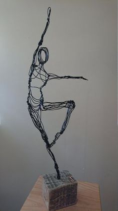 Paul Joyner Sculpture Studio Ballet Dancer Wire Sculpture