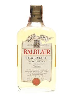 Balblair 5 Year Old / Bot.1980s Scotch Whisky : The Whisky Exchange