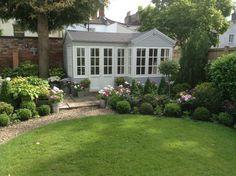 Summerhouse. Cottage Living, Coastal Cottage, Garden Studio, Conservatory, Beautiful Gardens, Wallpaper Backgrounds, Bungalow, Bliss, Garden Ideas