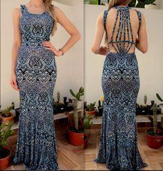 vestido-sereia-azul-estampado-diamente-strapy-bojo-tiras-comprar