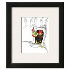 """Framed art print of the Grinch by Dr. Seuss from Art.com.  Product: Wall artConstruction Material: Wood, paper, and acrylicColor: Black frameFeatures: Ready to hangDimensions: 16"""" H x 14"""" W x 2"""" DNote: This product is supplied by Art.com"""