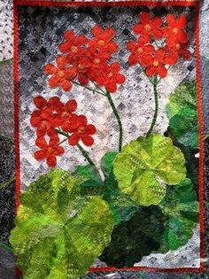 geranium quilt... By Jean K. Smith, via Sue Garman