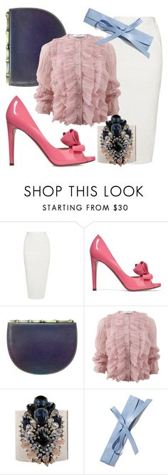 """""""Easter's Secret"""" by fashionforwarded ❤ liked on Polyvore featuring Rick Owens, Valentino, Moschino, Givenchy, Shourouk, New York & Company and patentleather"""