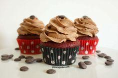 Red Velvet Nutella Cupcakes - JavaCupcake