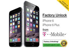 How to unlock iPhone 6 and iPhone 6 Plus locked to T-mobile Factory Unlock Iphone, Mobile D, Apple Iphone 6, Coding, Programming