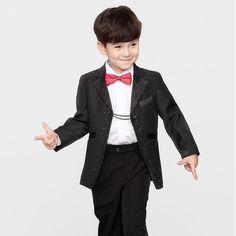 Seasons Korean children coat children dress suit performance