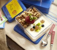 Spencer Dual Compartment Food Storage (for snack time! Lunch Containers, Blue Pottery, Kits For Kids, Pottery Barn Kids, Recipe Box, Food Storage, Lunch Box, Frozen, Tasty
