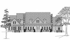 Country Style House Plans - 4221 Square Foot Home , 2 Story, 4 Bedroom and 3 Bath, 3 Garage Stalls by Monster House Plans - Plan 62-306