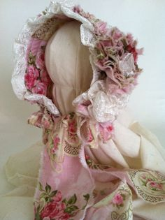 Newborn Baby Girl Photography Prop Lace and by CoutureParfait,  this Bonnet is on its way to Brazil.