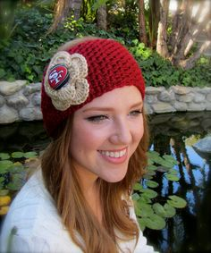 San Francisco 49ers Headband / Earwarmer by uniquelyyourscouture, $15.00