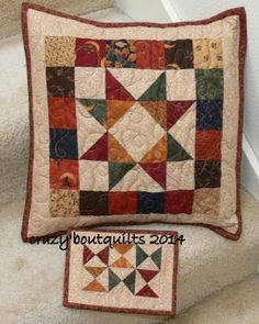 Simply Small - A Quilting Life Patchwork Cushion, Patchwork Quilting, Quilted Pillow, Small Quilts, Mini Quilts, Quilt Block Patterns, Quilt Blocks, Patchwork Patterns, Quilting Projects