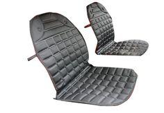 Gaorui 12v Universal Car Seat Heater Winter Household Cushion Warmer 2pcs - Black