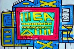 El Refugio. Serie Dimensiones Esmalte Sintetico s/ Papel 66x49
