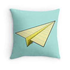 """Paper Airplane 10"" Throw Pillows by YoPedro 