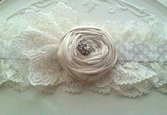 Natural #Wedding Lace Garter #Vintage Inspired Lace