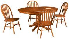 Intercon-Classic Oak-Classic Oak 5 Piece Dining Set - Jordan's Furniture