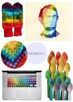 Etsy rainbow things!