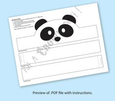 Create your own Panda Crown! Print, cut & glue your panda crown together & adjust to fit anyones head! Panda Day, Crown Printable, Panda Craft, Chinese Crafts, Do A Dot, Paper Crowns, Bear Party, Art N Craft, Preschool Crafts