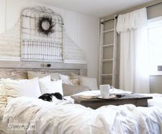 from a burn pile mess to a white bedroom sanctuary for less, bedroom ideas, home decor, painted furniture, repurposing upcycling