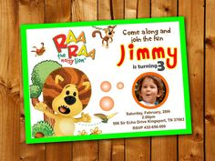 Raa Raa the noisy lion Nature Colorful Birthday Party by Point71