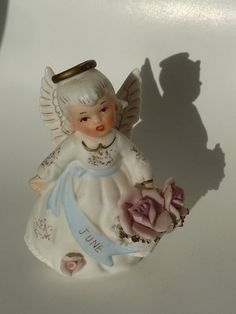 Lefton June Angel of the Month Figurine by BonniesVintageAttic, $22.50