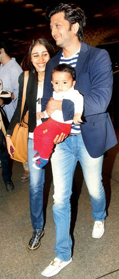 Riteish Deshmukh and Genelia D'Souza were all smiles with their adorable bundle of joy, son Riaan