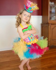 Custom Mad Hatter Madd tutu dress costume Halloween Pageant size 9 months 12 m 18 mos 2T 3T 4 4T