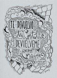Te devuelvo tu costilla, devuélveme mi CORAZÓN. Por @MerlinaAcevedo / Dibujo por INUS.   Flickr - Photo Sharing!