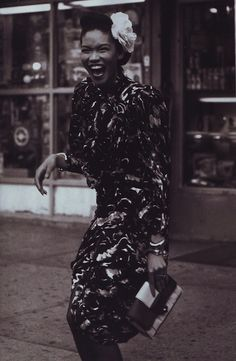 """Fashion and All That Jazz"": Chanel Iman and Arlenis Sosa in Jazz Age Harlem for Peter Lindbergh for US Harper's Bazaar"