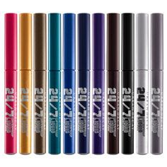 Urban Decay Waterproof Liquid Eyeliner ~  I love this stuff.  The brush makes it so easy to get a perfect line, as thin or as thick as you wish.  And no raccoon eyes by days end!  Love.