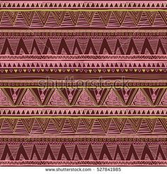 Ethnic boho seamless pattern. Tribal art print. Background texture, wrapping, wallpaper vector rose pink red