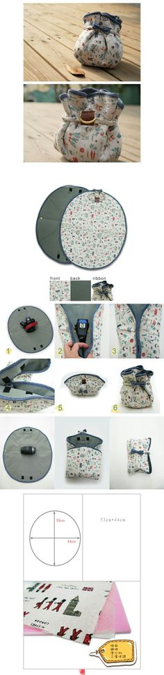lens case-any size Sewing Tutorials, Sewing Crafts, Sewing Projects, Cute Camera, Wallet Tutorial, Patchwork Bags, Patch Quilt, Fabric Bags, Love Sewing