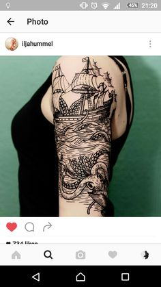 Sweet Tattoos, Love Tattoos, Body Art Tattoos, Tattoos For Guys, Ship Tattoos, Ankle Tattoos, Arrow Tattoos, Tatoos, Nautical Tattoo Sleeve