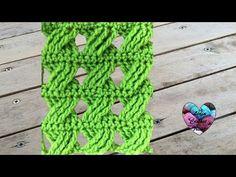 Point fantaisie tressé au crochet très facile. Punto fantasia trenzado tejido a crochet, My Crafts
