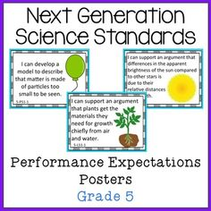 Are you ready for the Next Generation Science Standards?This file includes a poster to display above your current performance expectations poster as well as 16 posters for each of the 5th grade NGSS Performance Expectations.Looking for the Grade 5 NGSS Interactive Notebook?View ALL NGSS Resources!*NGSS and Next Generation Science Standards are a registered trademark of Achieve.