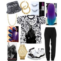SOCIETY by xbabyxdesx on Polyvore featuring polyvore fashion style Concord Michael Kors Fremada Bling Jewelry MAC Cosmetics