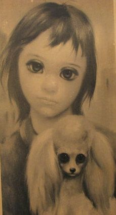 """""""Best Friend"""" ~ Margaret Keane, 1960  there's going to be a movie about this artist, soon"""