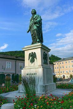 Mozart statue on Mozart Square, Mozartplatz, in Salzburg by day, Austria Salzburg Austria, Austria Travel, Famous Places, Statue Of Liberty, Travel Photos, Fine Art America, Canvas, Prints, Poster