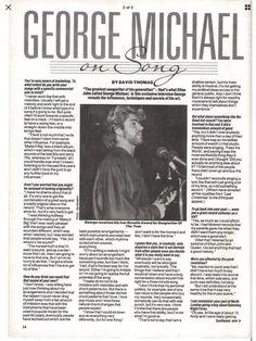 1985 George Michael magazine article