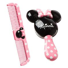 Disney Minnie Brush and Comb Set. Charming Minnie mouse design Brush with additional delicate bristles Easy-grasp handle Dual-thickness search for both thick or thin and wet or dry hair Disney Minnie mouse brush and brush set bring fun into your kid's hair mind routine with the Disney Minnie mouse brush and brush, best offer